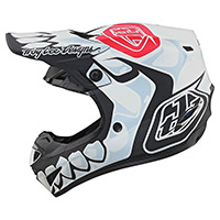 Troy Lee Designs Se4 Polyacrylite Skully Helmet White