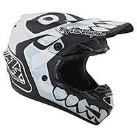 Casco Troy Lee Designs Se4 Polyacrylite Skully Bianco - 3