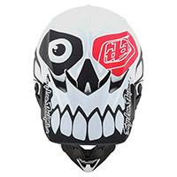Casco Troy Lee Designs Se4 Polyacrylite Skully Bianco - 4