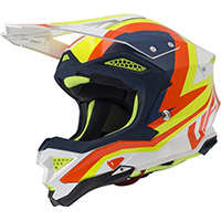 Ufo Diamond Helmet White Blue Fluo Yellow