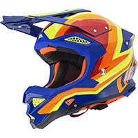 Casco Ufo Diamond Blu Giallo Arancio