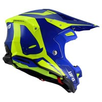 Ufo Offroad Helmet Diamond Blue Fluo Yellow