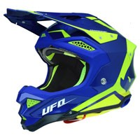 Ufo Casque Off Road Diamond Bleu Fluo Jaune