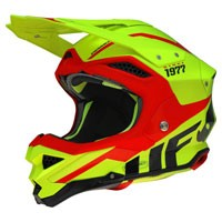 Ufo Casco Mx Enduro Diamond Giallo Fluo
