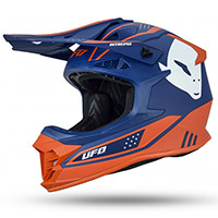 Casco Ufo Intrepid Blu Arancio