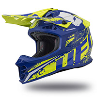 Casco Ufo Intrepid Giallo Blu Neon