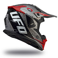 Ufo Intrepid Helmet Grey Red Black