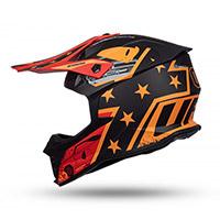 Casco Ufo Intrepid Nero Rosso Arancio