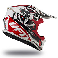 Ufo Intrepid Helmet White Red Black