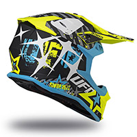 Casco Ufo Intrepid Nero Giallo Sky Blu