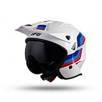 Ufo Sheratan Helmet White Blue Red