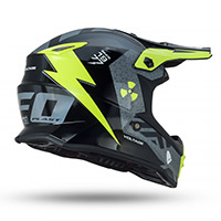 Ufo Voltage Kid Helmet Grey Yellow Kid