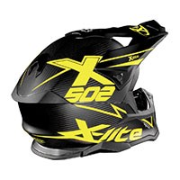 X-lite X-502 Ultra Carbon Matris Flat Carbon Giallo