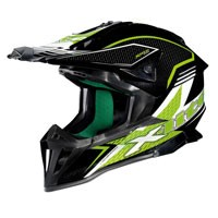 X-lite X-502 Backflip Nero-verde