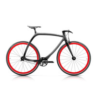 Rizoma Metropolitan Bike R77 Carbon Look - Orange Fluo