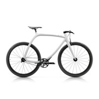 Rizoma Metropolitan Bike R77 Matt White - Black