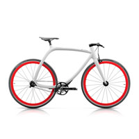 Rizoma Metropolitan Bike R77 Matt White - Orange Fluo