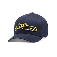Alpinestars Blaze Flexfit Hat Navy Yellow
