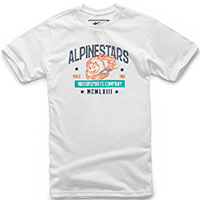 T-shirt Alpinestars Disorderly Tee Bianco