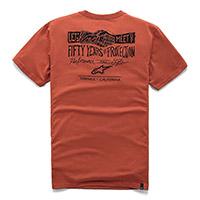 T Shirt Alpinestars Meet Premium Coral
