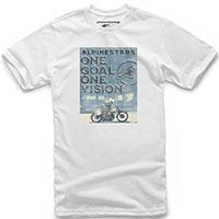 T-shirt Alpinestars Poster Tee Blanc