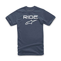 T-shirt Alpinestars Ride 2.0 Navy Bianco