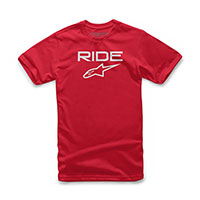 Alpinestars Ride 2.0 Tee T-shirt Red White