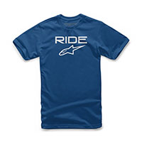 T-shirt Alpinestars Ride 2.0 Royal Bianco