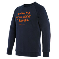 Sweat Dainese Paddock Noir Orange