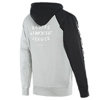Dainese Racing Service Full Zip Hoodie Black Grey