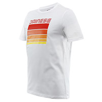 T-shirt Dainese Stripes Bianco Rosso