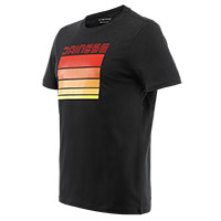 T-shirt Dainese Stripes Nero Rosso