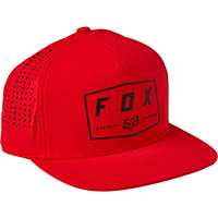 Cappellino Fox Badge Snapback Rosso Flame