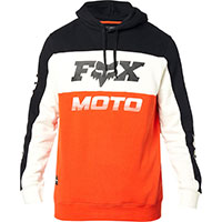 Sweatshirt Fox Charger Pullover Noir Orange