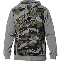 Sweatshirt Fox Destrakt Camo Zip Gris