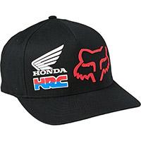 Cappellino Fox Honda Hrc Flexfit Nero