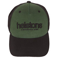 Helstons Corporate Cap Black Green
