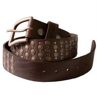 Helstons Pin Belt Brown