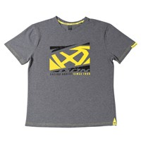Ixon Crowd T-shirt Grey Yellow Fluo