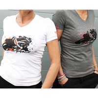 Ixon Union Lady T-shirt Anthracite Pink Fluo