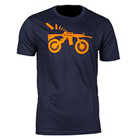 T Shirt Klim Ar Bike T Navy Arancio