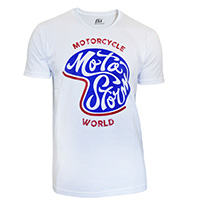 T Shirt Motostorm Casco Bianco