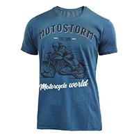 T Shirt Motostorm Vintage Blu