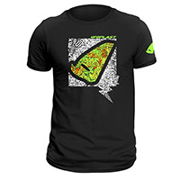 Ufo T Shirt Black Yellow Fluo