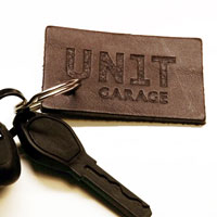 Unit Garage Rectangular Unitgarage Brown Keyring