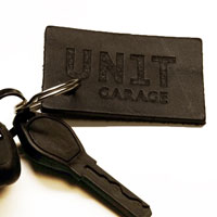 Unit Garage Rectangular Unitgarage Black Keyring