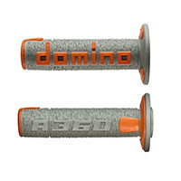 Domino A36041c Handgrips Grey Orange