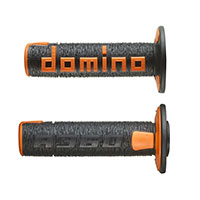 Domino A36041c Handgrips Black Orange