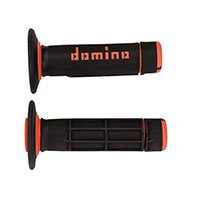 Domino A02041c Handgrips Black Orange