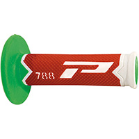 Manopole Progrip 788 Td Closed End Bianco Rosso Verde
